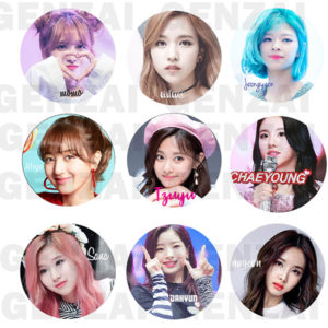Kit Twice C/ 9 Bottom Broche Girl Group Kpop