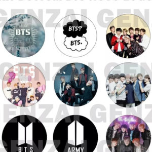 Kit Kpop C/ 9 Bottom Broche Kpop – Bts Novo Logo !