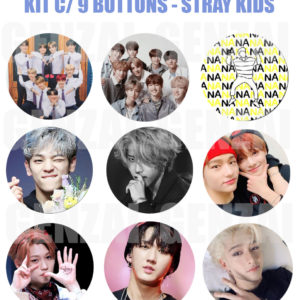 Kit  Bottom Stray Kids – Com 09 Bottons Kpop sk02 KPOP